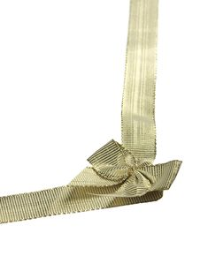 Free Golden Ribbon And Bow Royalty Free Stock Image - 4812736