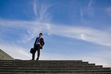 Free Businessman On Stairs Royalty Free Stock Images - 4812969