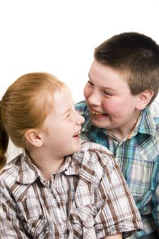 Free Happily Brother And Sister Royalty Free Stock Image - 4813086