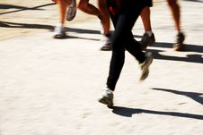 Free Runners Legs Stock Photography - 4813282