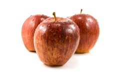 Free Three Red Apples Royalty Free Stock Images - 4813319