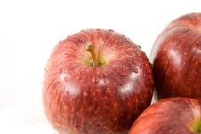 Group Of Red Apples Stock Image