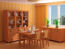 Free Modern Interior 3d Royalty Free Stock Photography - 4813757