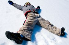 Free Making A Snow Angel Royalty Free Stock Photos - 4813808