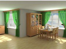 Free Modern Interior 3d Stock Photos - 4813863