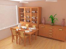 Free Modern Interior 3d Royalty Free Stock Image - 4813956