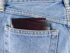 Jeans And Wallet Royalty Free Stock Photography