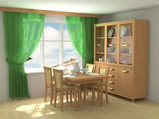 Free Modern Interior 3d Royalty Free Stock Photo - 4814155
