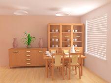 Free Modern Interior 3d Royalty Free Stock Image - 4814226