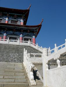 Free China Temple Railings Royalty Free Stock Photography - 4814397