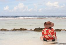 Free Reading In Paradise Royalty Free Stock Photography - 4814807