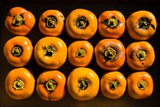 Free Arranged Persimmon Fruits Royalty Free Stock Photography - 4815107