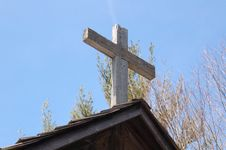 Free Cross On Church Top Royalty Free Stock Photography - 4815307