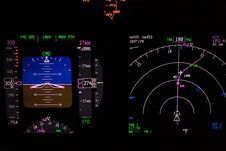 Free Flight Instrument At Night Stock Photos - 4815323