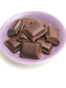 It Is A Lot Of Segments Of Chocolate Lay On A Plat Stock Photography