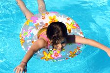 Free Swimming Girl Stock Photography - 4816142