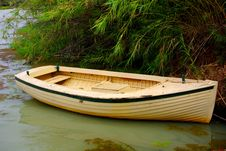 Free Yellow Boat, Brown River Stock Photo - 4816480