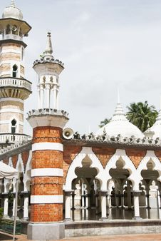 Masjid Jamek Mosque, Kuala Lumpur Royalty Free Stock Photos