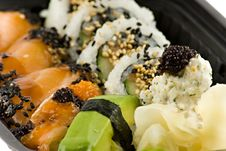 Free Close Up Picture Of A Sushi Take-away Meal Royalty Free Stock Images - 4817279