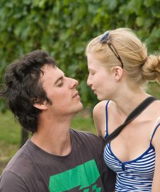 Free Young Couple At Vineyard Royalty Free Stock Photos - 4817678