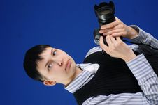 Free Young Photographer Royalty Free Stock Photography - 4817967
