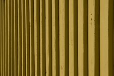 Free Yellow Slatted Wall Texture Royalty Free Stock Photos - 4818018