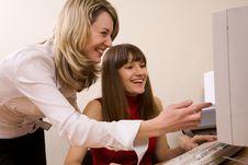 Joyful Businesswomen At Office Stock Image
