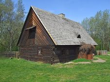Free Old Wooden Hut In Village Stock Photo - 4818850