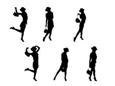 Fashion Silhouettes Royalty Free Stock Images