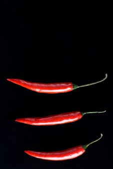 Free Three Chili Peppers Royalty Free Stock Image - 4819796