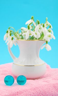 Free Bath Oil Spring Flowers Stock Photography - 4819832