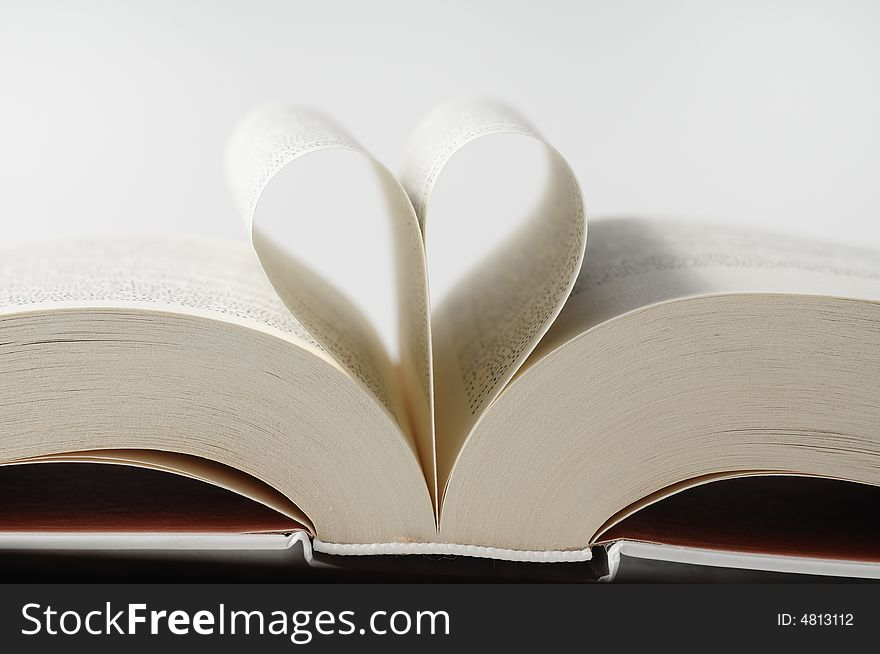 Book with heart sheet