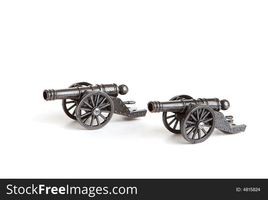 Two models of cannon