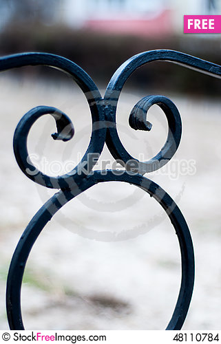 Free Wrought Fence Stock Images - 48110784