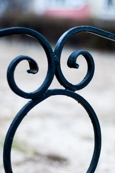 Wrought Fence Stock Images