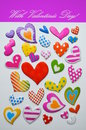 Free Frame With Hearts Royalty Free Stock Photos - 48182548