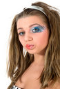 Free Girl With Face-art Butterfly Paint Royalty Free Stock Photo - 4828185