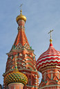 Free Domes Of Pokrovski Cathedral. Stock Photography - 4828652