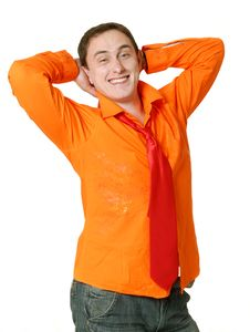 Silly Man Posing Royalty Free Stock Images