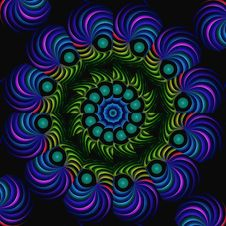 Free Neon Spiral Mandala Stock Photos - 4820263