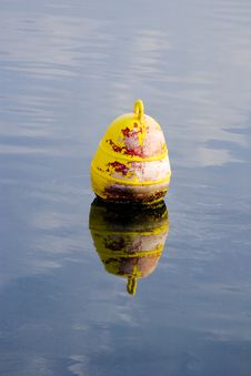 Buoy On Calm Waters Stock Photography