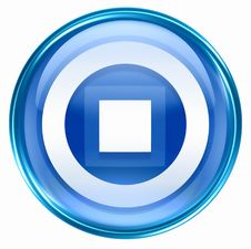Free Stop Icon Blue Stock Photography - 4821462