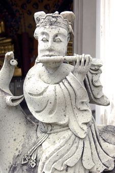 Thailand, Bangkok: Arun Temple S Statue Stock Photos