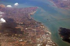 Malaysia, Penang: Aerial View Stock Image