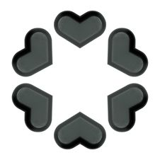 Free Abstract Figure From Six Hearts. Stock Photos - 4822593