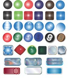 Free Buttons Different Stock Image - 4822701