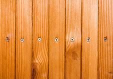 Wooden Texture With Screw Heads. Royalty Free Stock Images