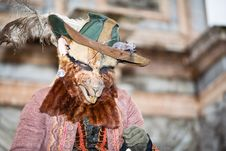 Rat Costume At The Venice Carnival Stock Image