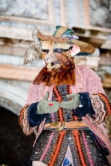 Rat Costume At The Venice Carnival Stock Images