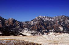 Free Boulder Flatiron Mountains Royalty Free Stock Photo - 4824005
